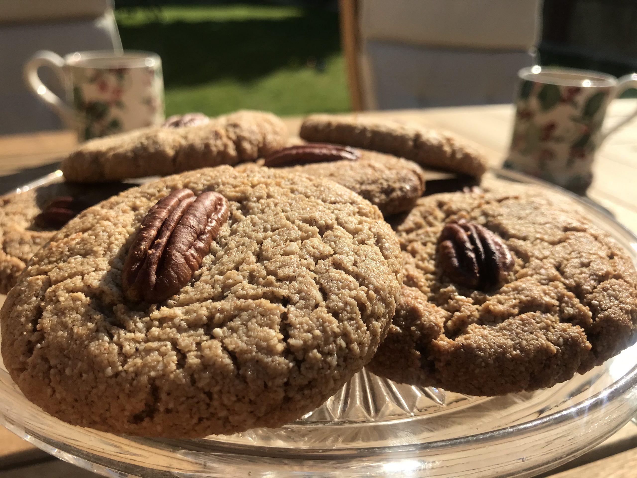 Cinnamon Biscuits with Pecan Halves