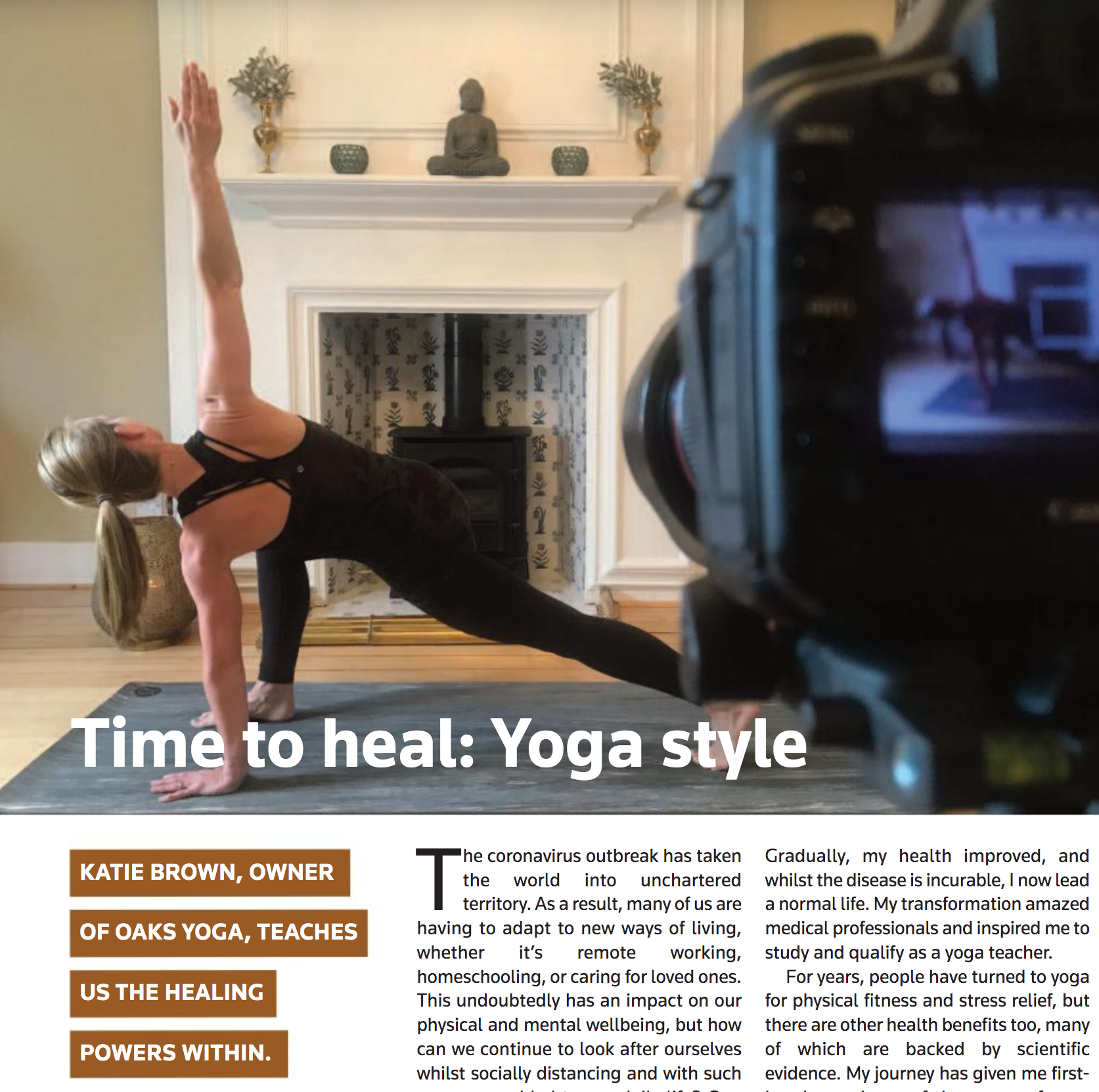 Time to heal: Yoga style - An article for Sevenoaks Health and Wellbeing Magazine