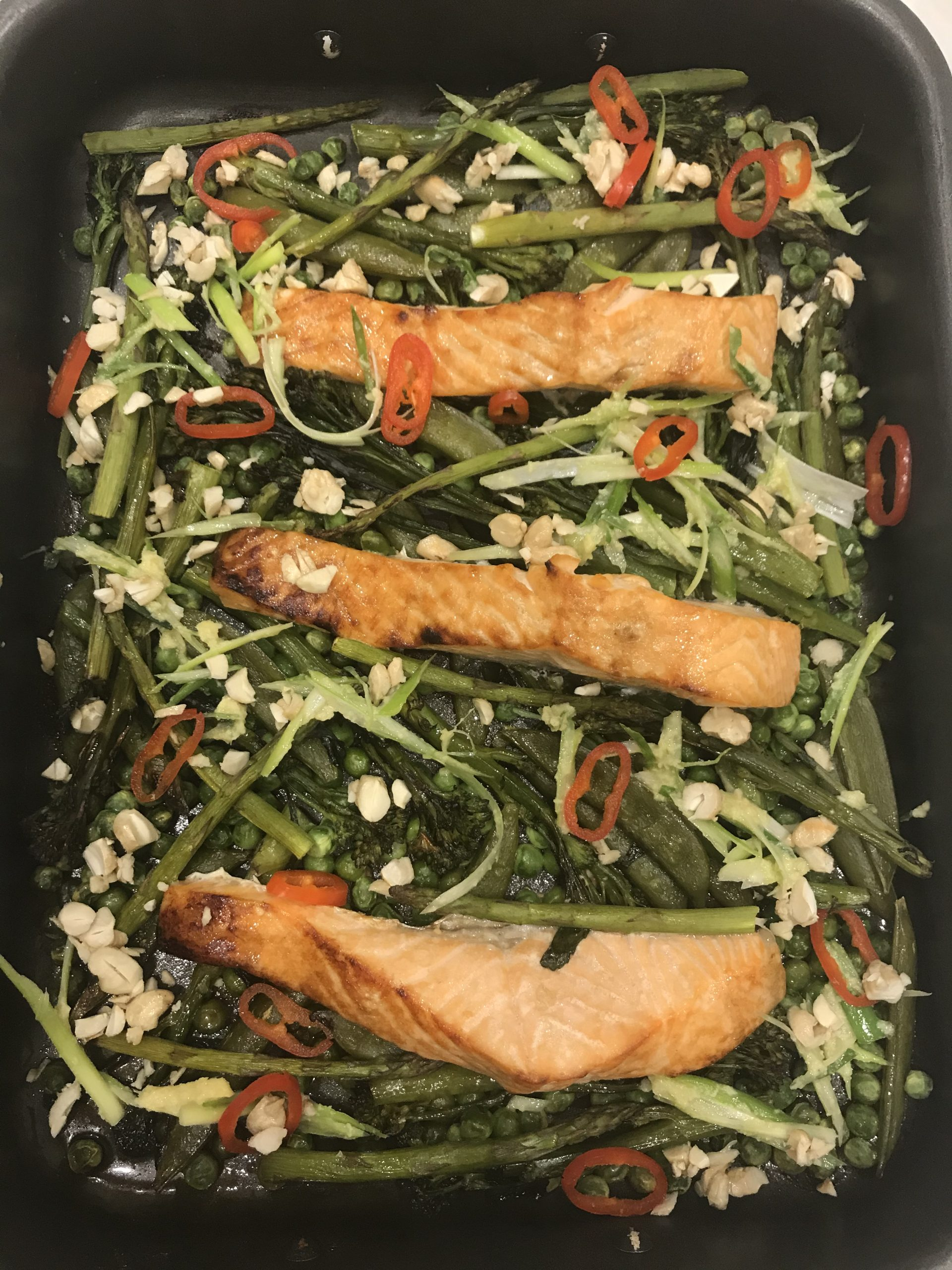 Easy Salmon Tray Bake