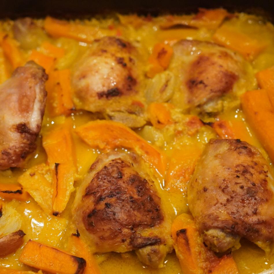 Malaysian Chicken Tray Bake