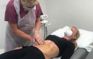 Treating Endo in Clinic with physio Maria Elliott