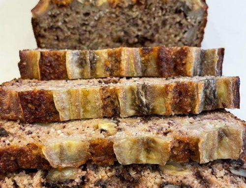 Gluten and Refined Sugar Free Banana Cake
